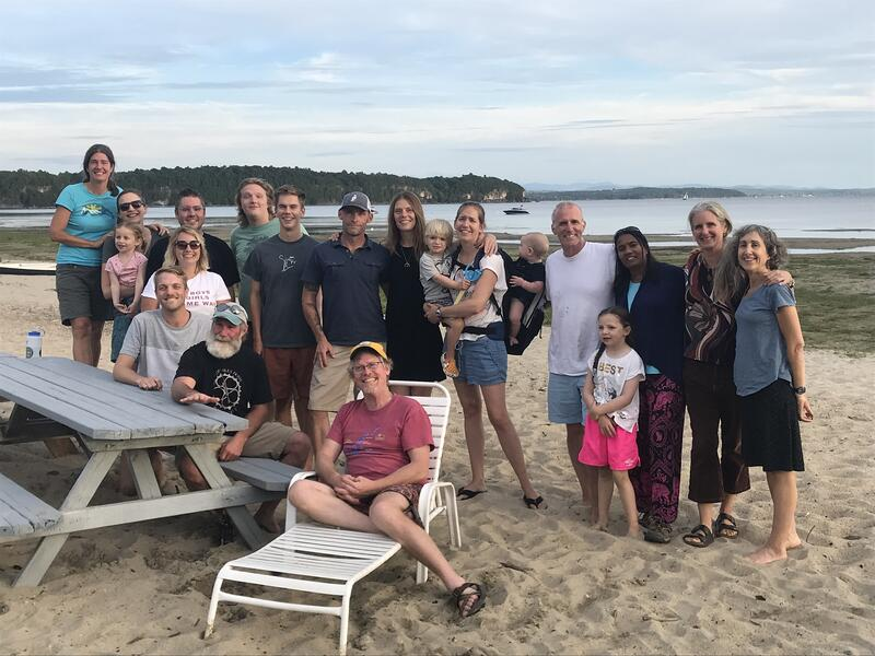 Staff at the beach