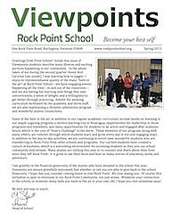 Cover of Viewpoints newsletter for Spring 2013