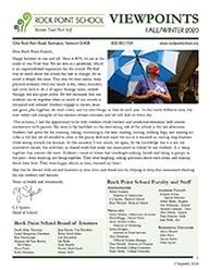 Rock Point School Viewpoints Newsletter Fall-Winter 2020