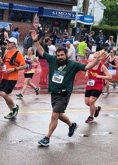 running in the marathon