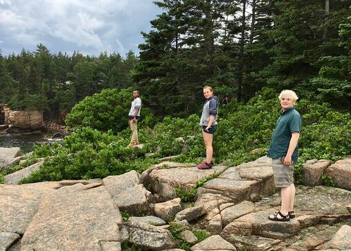 summer session hike in acadia