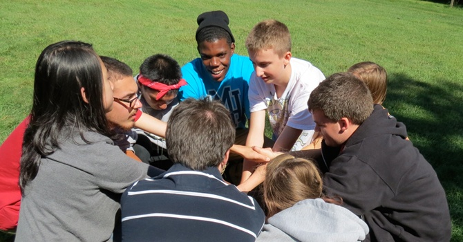 About Rock Point School: students in group